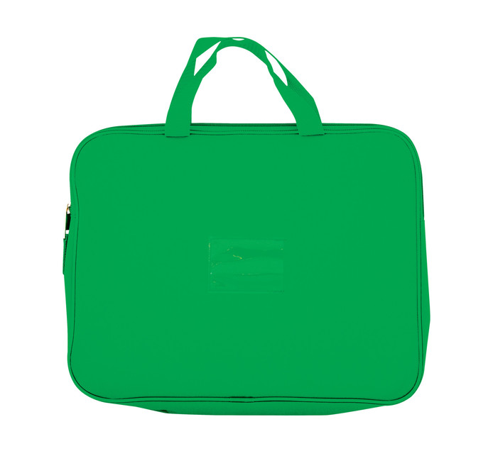 Kenzel A4 Book Bag with Handle Dark Green Dark green