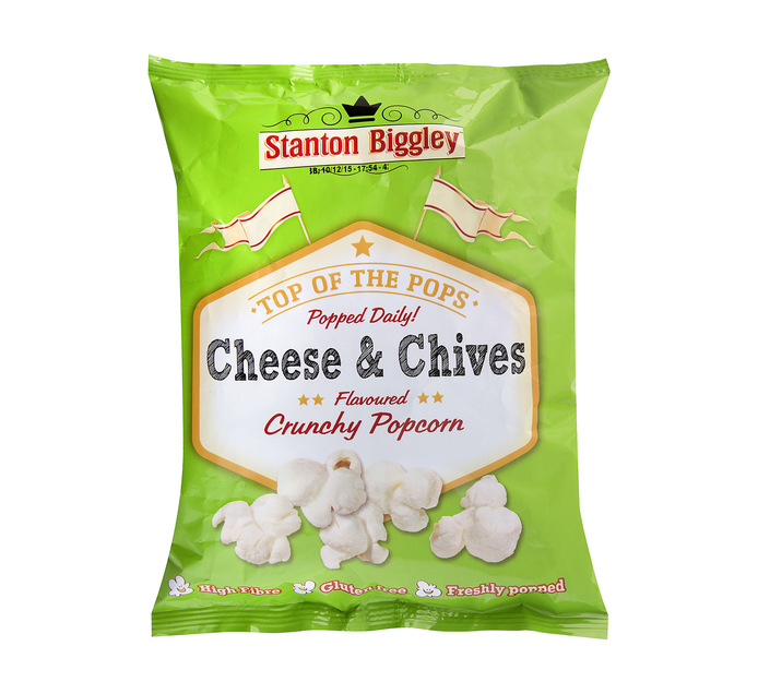 Stanton Biggley Popcorn Cheese and Chives (12 x 45g)