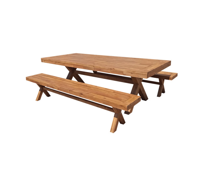 Pleasant Sahara Wooden Bench Set Ocoug Best Dining Table And Chair Ideas Images Ocougorg