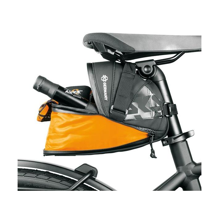 SKS Saddle Bag with Hook and Loop Fastener Explorer Straps 1800 Black