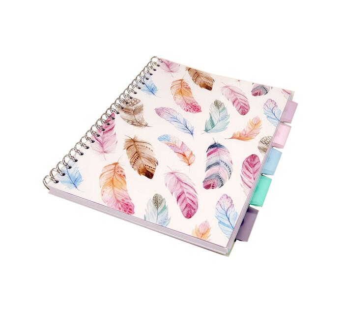 Kenzel 245 X 300 X15mm A4 Projet Book Feathers Design