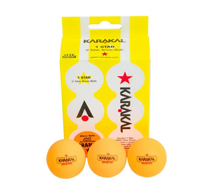 Karakal 6-pack 1 Star Table Tennis Ball