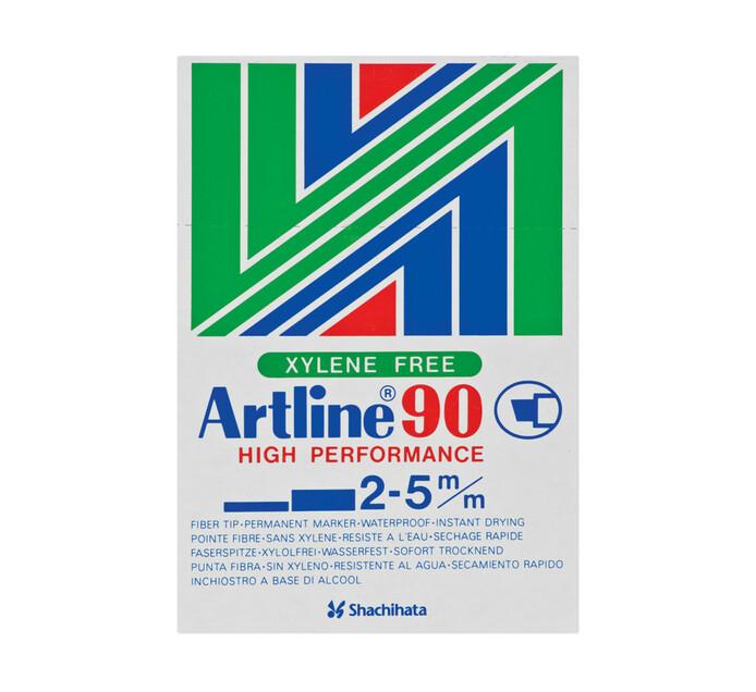 Artline EK90 Permanent Markers Black 12-Pack
