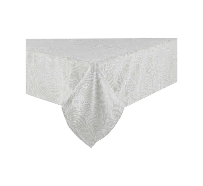 Sheraton 140 x 280 cm Leaf Table Cloth Grey