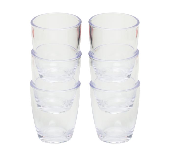 Kwik Shot Double Shot Glasses Clear 50ml 6pk