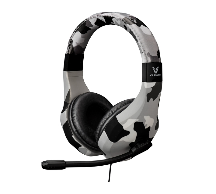 VX Gaming Camo Series 6-in-1 Gaming Headphones with Built-in Omnidirectional Swivel Microphone and Adjustable Headband