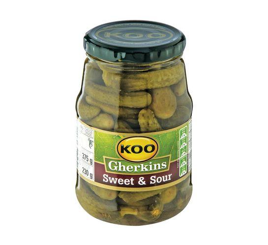 KOO Cocktail Gherkins Sweet&Sour (1 x 375g)