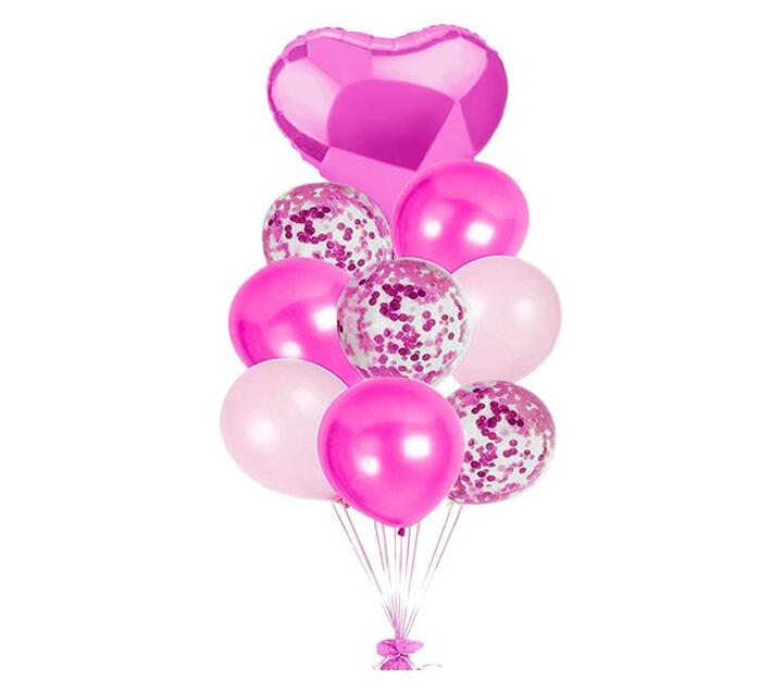 BubbleBean - Dark Pink Bunched Balloon 9pc