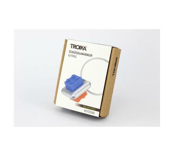 Troika Keyring with 4 Variable Building Blocks Keystone