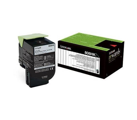 Lexmark 808HKE - High Yield - black - original - toner cartridge - LCCP, LRP, Lexmark Corporate