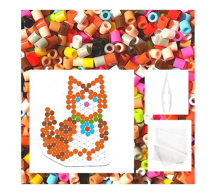 JKA - Iron On Bead Craft Toy - Double Combo Kit - Kitty & Puppy