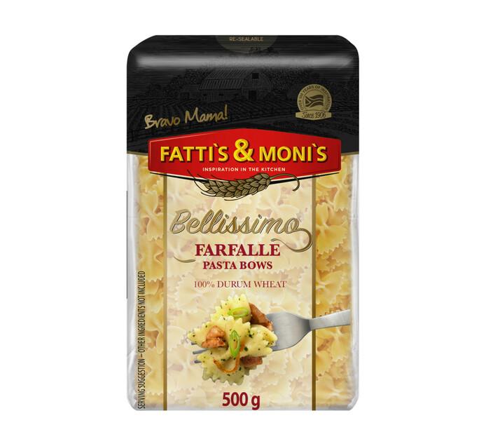Fatti's & Monis Bellissimo Durum Wheat Pasta Farfalle (1 x 500g)