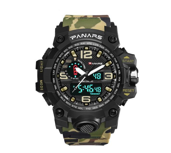 PANARS Multi-functional Sport Digital Watch - Army Brown