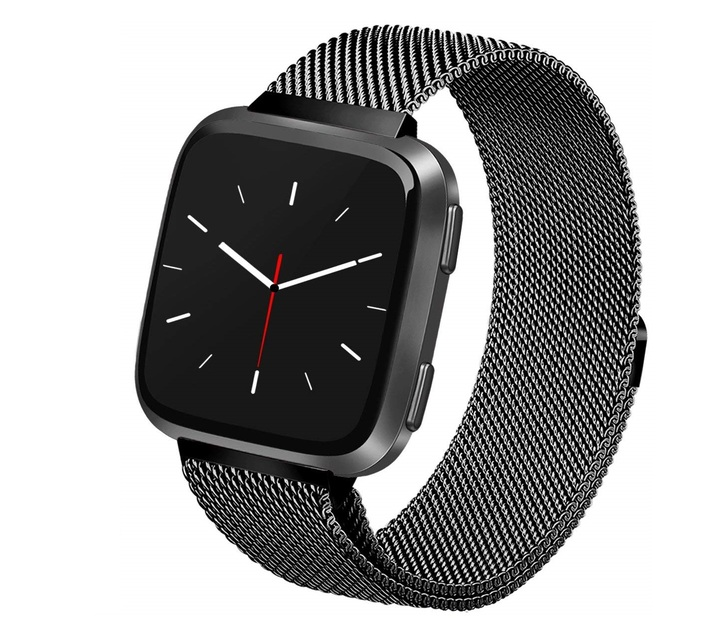 Linxure Milanese Fitbit Versa Strap Black - Small