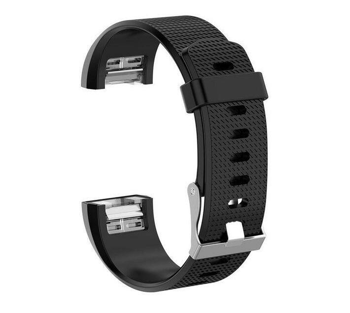 Linxure Silicone Strap for Fitbit Charge 2 Black - Small