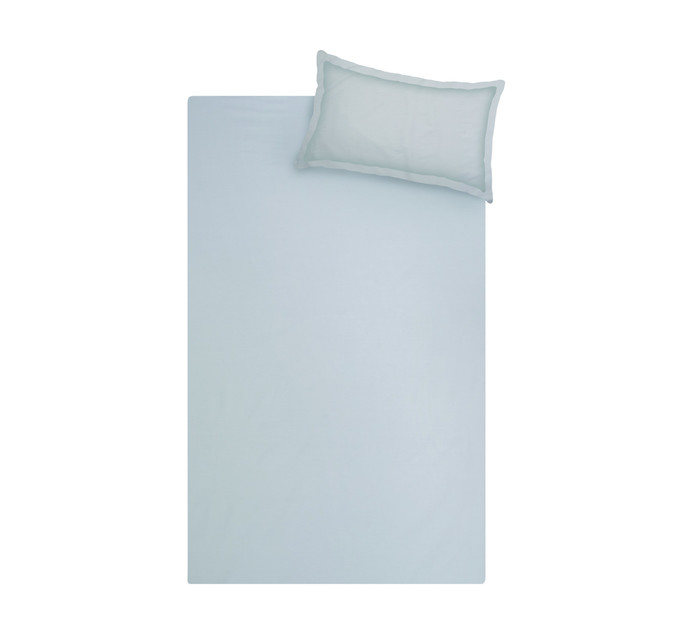 Sheraton Double Cotton Percale Duvet Cover Steel grey