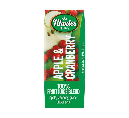 Rhodes Fruit Juice Blend Apple & Cranberry (6 x 200ml)