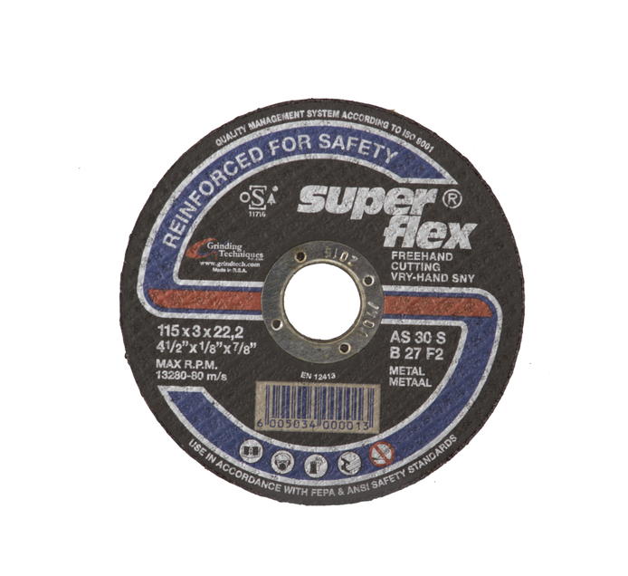 SUPERFLEX STEEL CUTTDISC 115X3X22.2 5PK