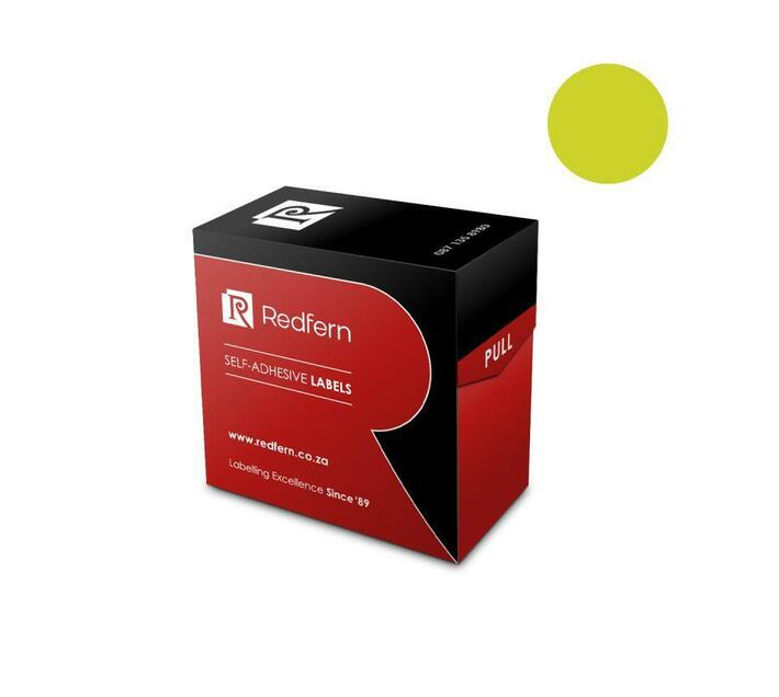 Redfern Self-Adhesive Colour Codes - C13 Flu Yellow / Lime