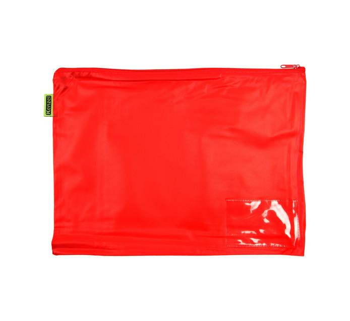 Kenzel A4 PVC Book Bag Red Each