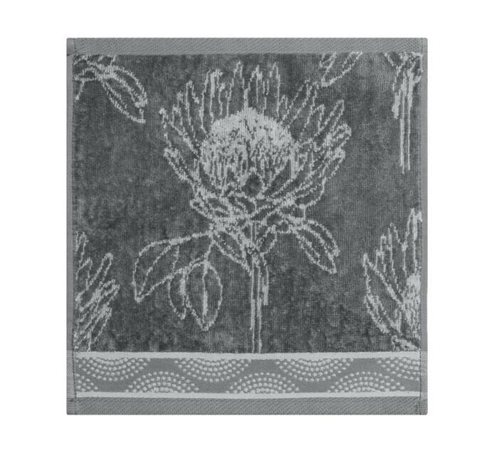 Glodina King Protea Velour Face Cloth grey