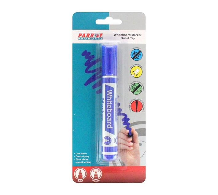 PARROT PRODUCTS Whiteboard Marker (Bullet Tip, Carded, Blue)