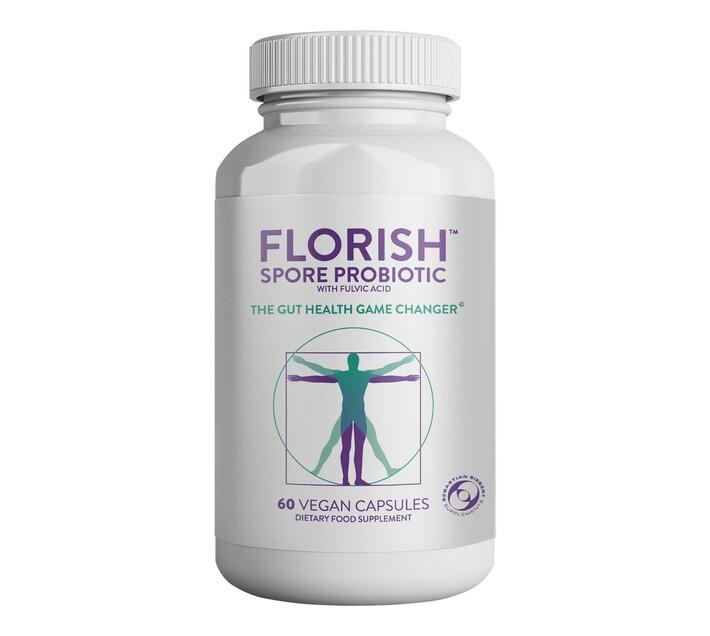 Florish - Spore Probiotics with Fulvic Acid - 60 Caps