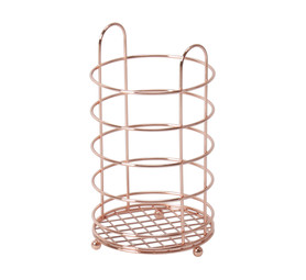 ACCENT UTENSIL HOLDER COPPER COLOR