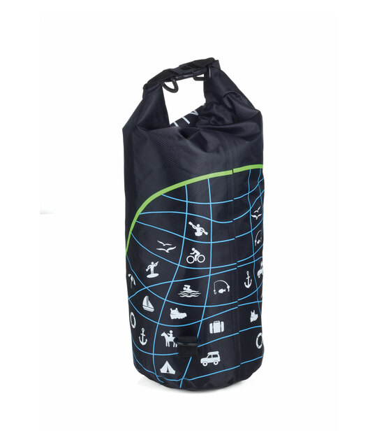 Troika Outdoor Bag WATERPROOF BAG IPX6 Grade 10 Litre Capacity Black
