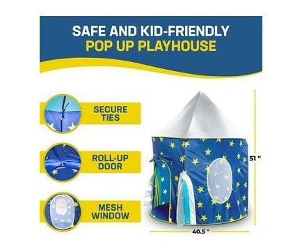 JuniorFX Rocket Pop Up Play Tent With Carry Bag