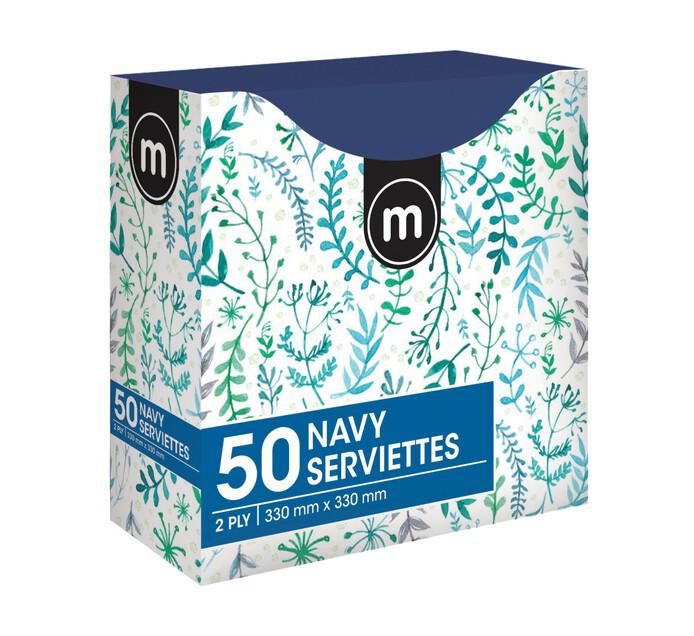 M Brand Serviettes 2Ply 330mmx330mm Blue (1 x 50's)