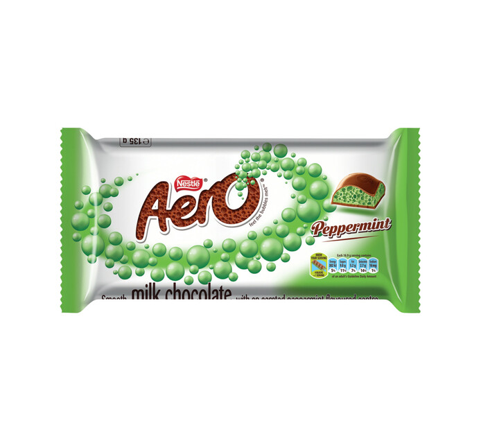 Nestle Aero Chocolate Slab Peppermint (135g)
