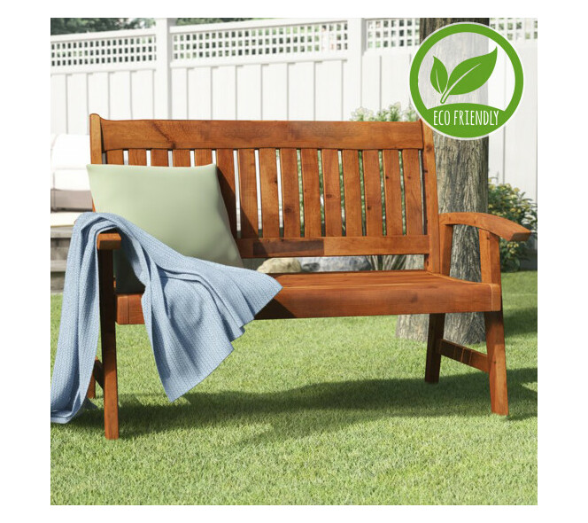 Eco Wooden Bench 2 Seater