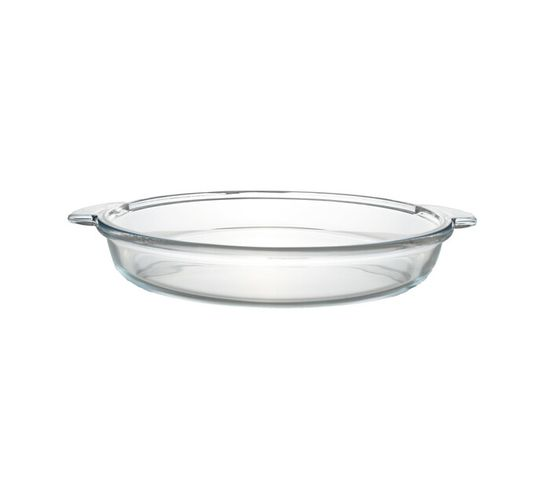 Guzzini 35 cm Round Glass Oven Dish with Handles