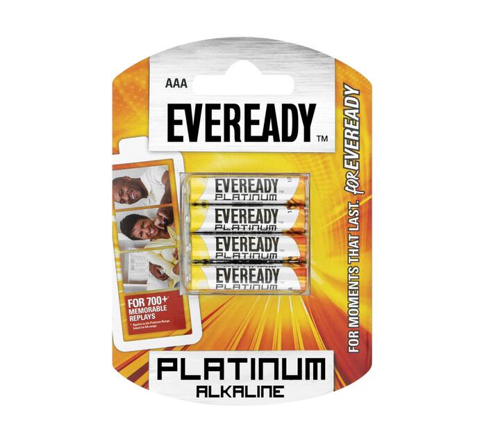 Eveready Platinum Alkaline AAA Batteries 4-Pack