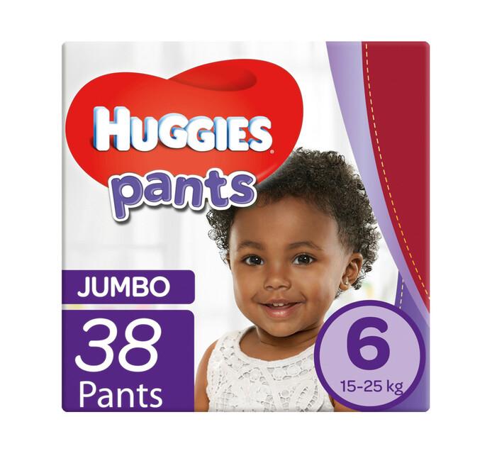 Huggies Jumbo Disposable Unisex Pants Size 6 (2 x 38's)