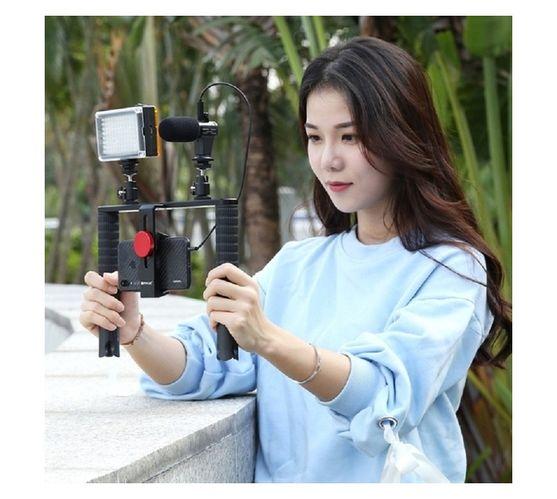 PULUZ 4 in 1 Vlogging Live Broadcast LED Selfie Light