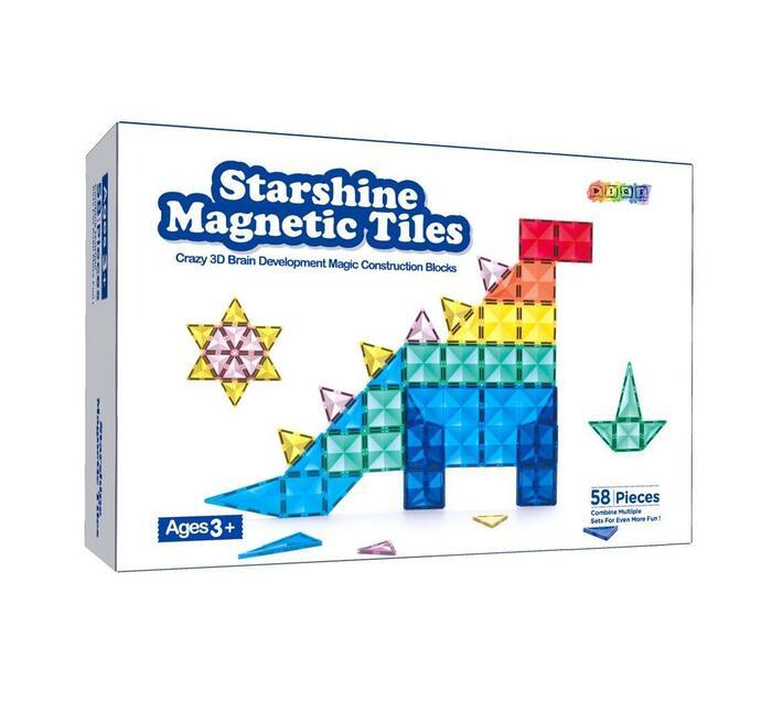 BrIQs - 3D Starshine Magnetic Tiles - 58p