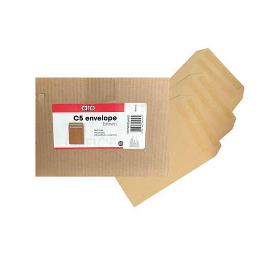 ARO C5 Seal Easi Envelope Brown 500-Pack
