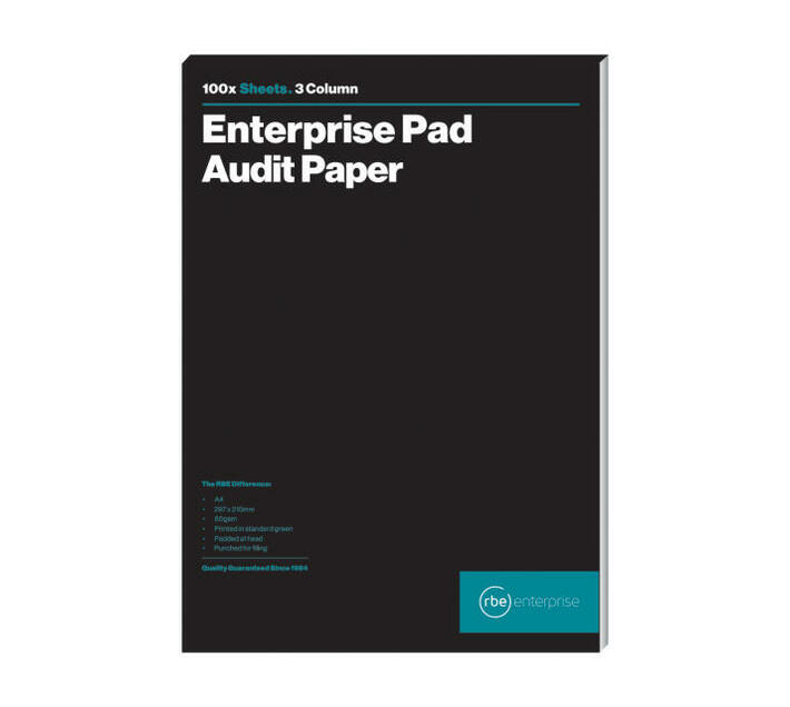 RBE: 3 Column Audit Pads (Pack of 3)