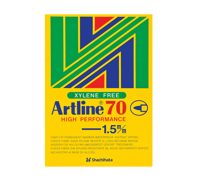 Artline EK70 Permanent Markers Black 12-Pack