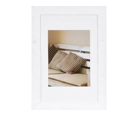 Driftwood 30x40 wooden frame white