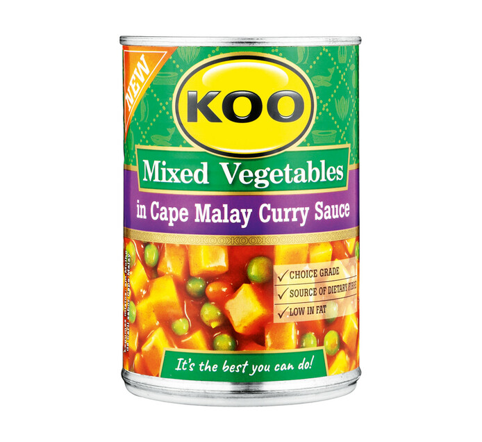 KOO Vegetable Curry Cape Malay Sauce (1 x 410g)