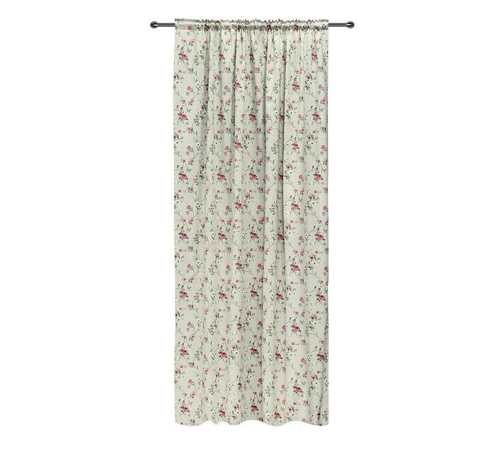 easyhome Rame Kirsch Taped curtain Pink 140 x 270cm