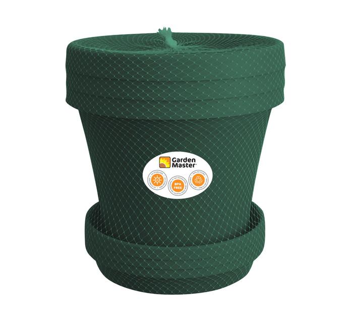 Gardenmaster 3-Piece 25 cm Super Plant Pot and Saucer Set