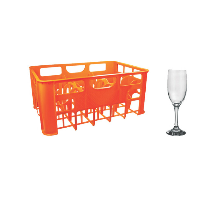 Regent 190 ml 24 Flute Glasses in Crate
