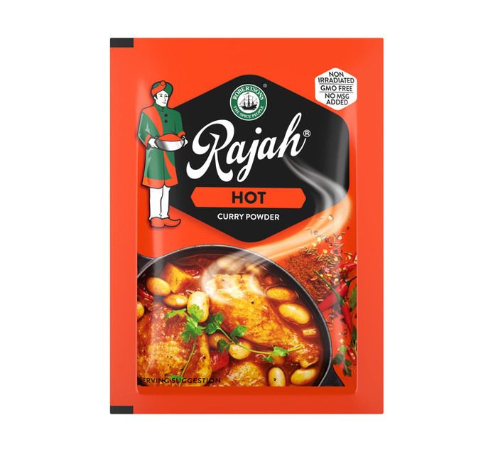 Rajah Envelope Spice Curry Powder Hot (40 x 7G)