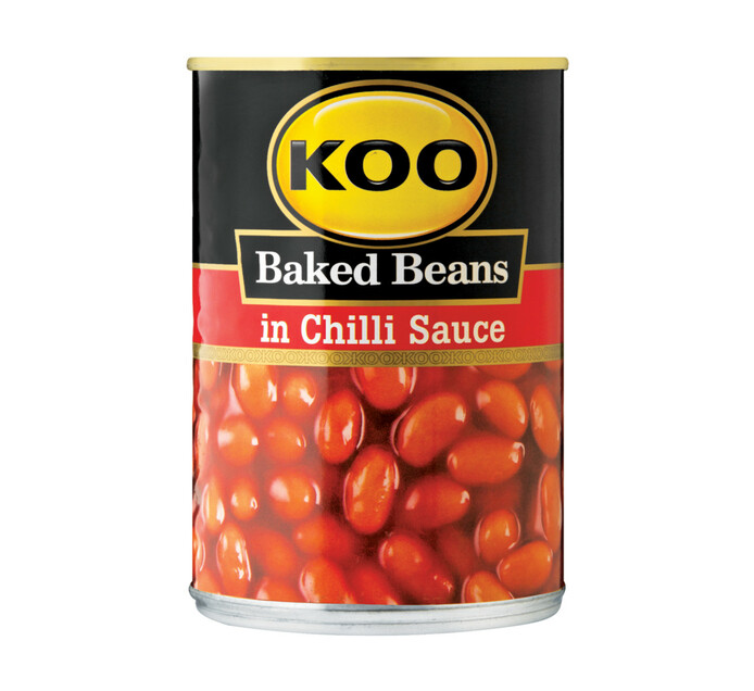 KOO Baked Beans In Chilli Sauce (12 x 420g)