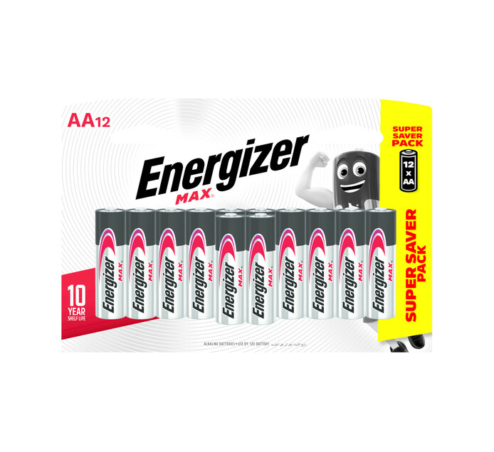 Energizer Max AA Batteries 12-Pack