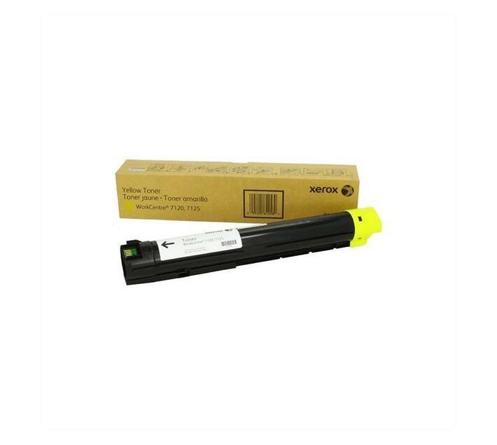 Xerox Yellow Original Toner Cartridge for WorkCentre 7120and 7125 DMO